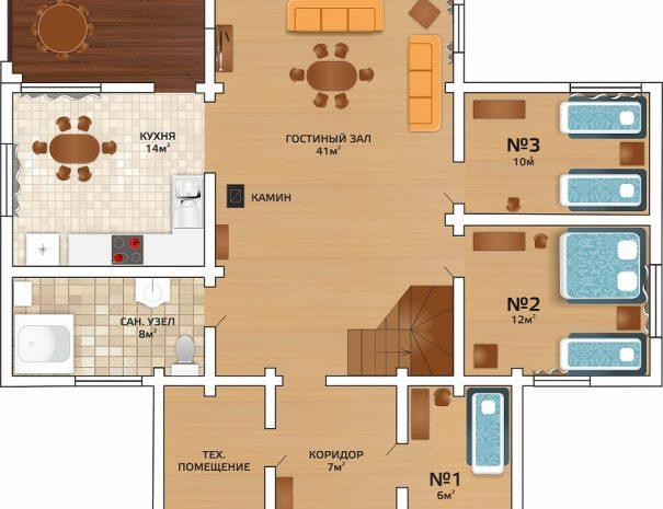 озёрный 1 этаж (new)
